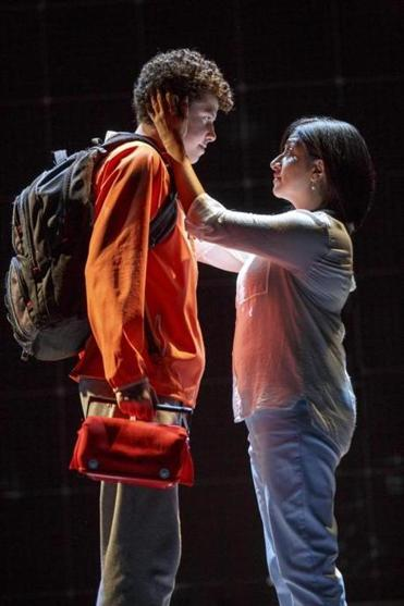 "Adam Langdon and Maria Elena Ramirez in ""The Curious Incident of the Dog in the Night-time.''"